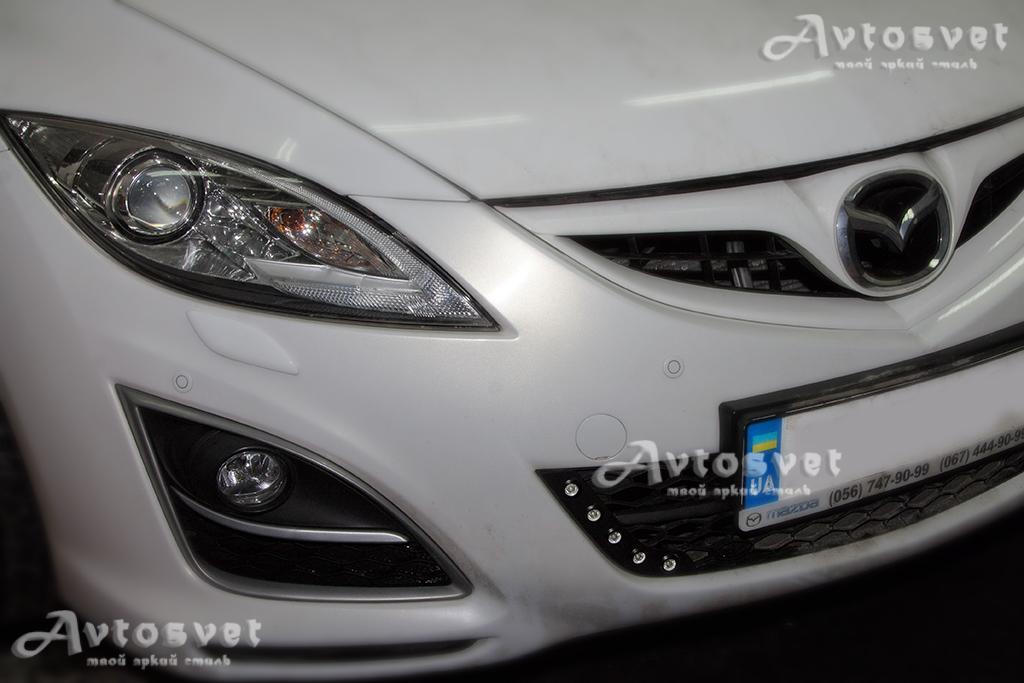 Mazda 6 установка DRL