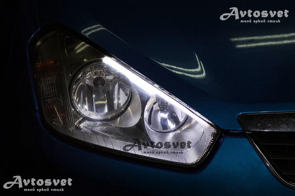 Ford C-Max, установка ДХО, установка гибкой ленты, лед-тюнинг, LED - tuning,
