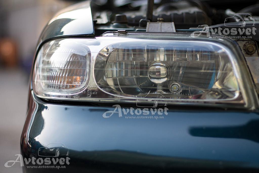 Daewoo Nubira пожелтение стекла фар, восстановление фар, устранение желтизны фар, покрытие лаком фар