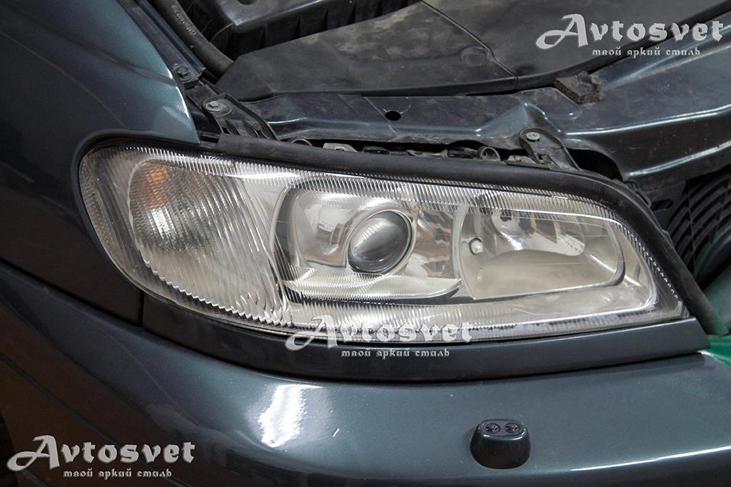 Опель Opel, помутнение фар, устранение помутнения, покрытие фар защитным лаком