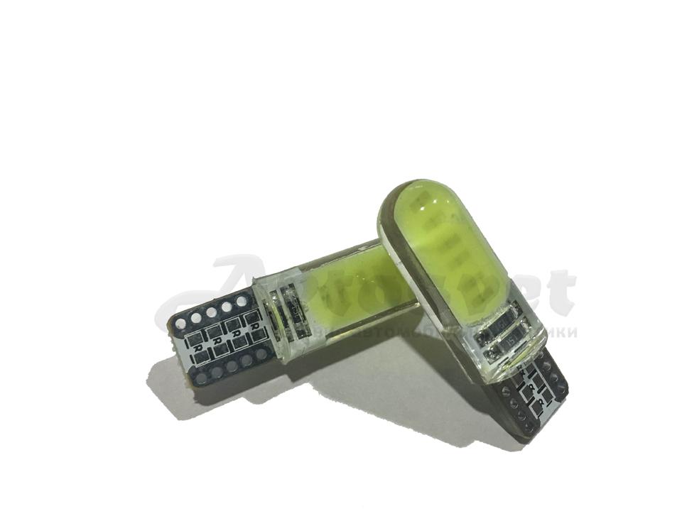 T10 W5W 12 чипов led лампа цвет белый