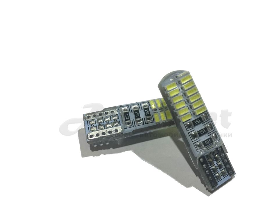 T10 W5W canbas 24 чипов led лампа цвет белый