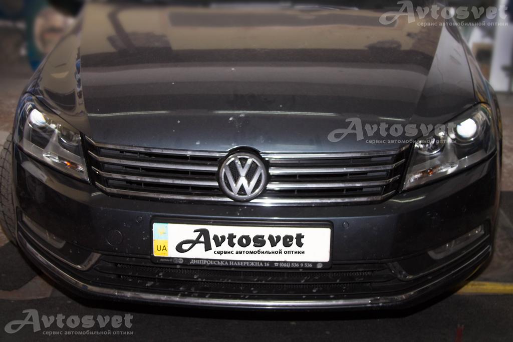 """Volkswagen Passat установка линз 3,0"""" с масками Tiguan"""