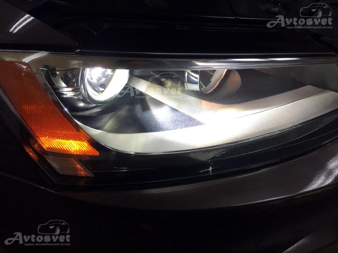 Установка линз в автомобиль Volkswagen Jetta
